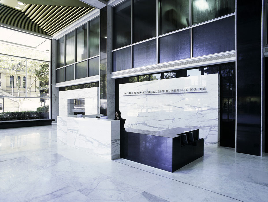 Museum Of Sydney Foyer : Reserve bank of australia museum currency notes and
